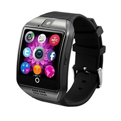 New touch screen smart Bluetooth watch mobile phone SIM camera for iOS and Android smartphones black onesize
