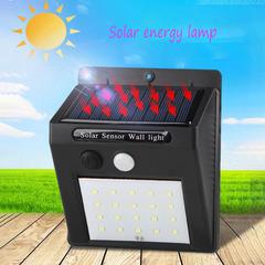 New LED Solar Body Sensing Outdoor Waterproof Lamp Wall Lighting Street Lamp black 0.55W