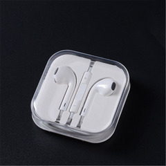 New General Apple Android Universal Earphone Wire-controlled Headphones with Mac Headphones white