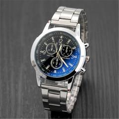 New men's fashion quartz men's watch leisure men's watches black one size