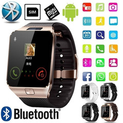 New  watch Phone Bluetooth Smart watch With Camera, SIM Card Slot For Android Phones brown onesize