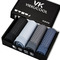 1 box of 4 men's underwear gift box ice silk men's breathable and comfortable mesh boxer briefs gray&black L