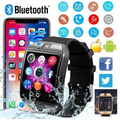 New touch screen smart Bluetooth watch mobile phone SIM camera for iOS and Android smartwatch black onesize