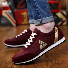Men New Fashion Men Shoes Men;s Canvas Shoes Casual Breathable Shoes sport Shoes red 41