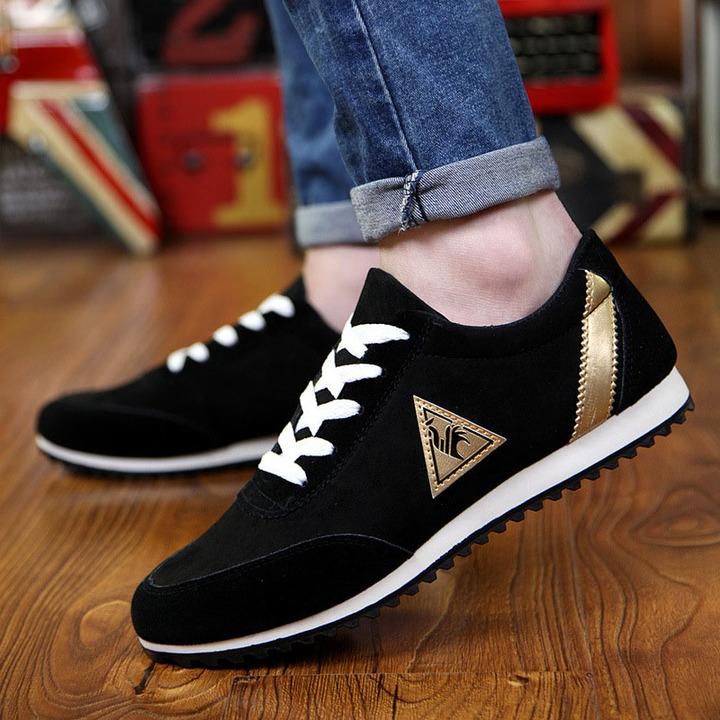 Men New Fashion Men Shoes Men;s Canvas Shoes Casual Breathable Shoes sport Shoes black 43