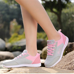 New Fashion Women's Leisure Sports Shoes Outdoor Sports Shoes Breathable Mesh Shoes pink 38