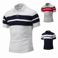 New Men's Leisure Fashion Sports Short Sleeve Tshirt Cotton shirts white M