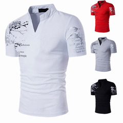 New  men's tshirts Short Sleeve T-shirt Men Polo Sports tshirt Summer Polo shirts white m onesize