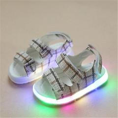 New children's LED Lighting children's shoes Boys'and Girls' sandals Colour Luminescent  Slippers gray 21