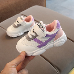 New Kids Sports Shoes for Children, Boys and Girls Breathable Shoes, Soft-soled Anti-skid Shoes purple 21