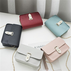 New lady chain bags with oblique shoulder square bags handbags black onesize