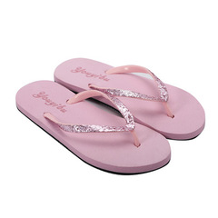 Slippers Fashion, Leisure, Pure Color, Non-skid Women's Flip-flops, Breathable Women's Sand Sh pink 36