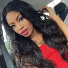 New fashion women wig long hair wig straight hairs black High quality and Affordable