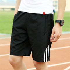 New men's fashion shorts sports casual pants white L