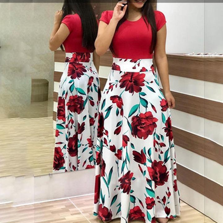 women's dresses, long dresses, short sleeved dresses white M