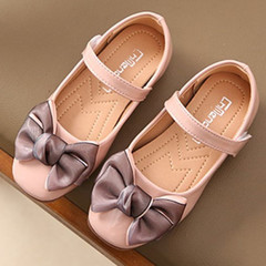 New girl bow princess shoes single shoes children's shoes pink 26