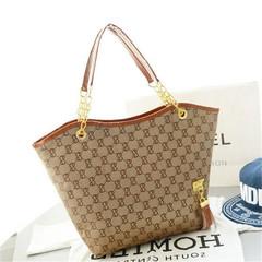New women's tassel handbag shoulder bag fashion high quality and large capacity handbags brown high quality and large capacity