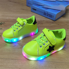 New Children's Board Shoes LED Light Night Star Shoes  Shoes for Boys and Girls green 22