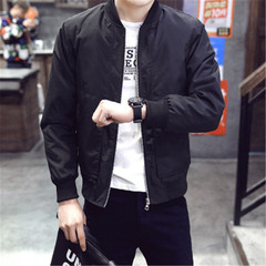 New men's fashion jacket jacket slim clothes black m