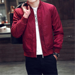 New men's fashion jacket jacket slim clothes red 3xl