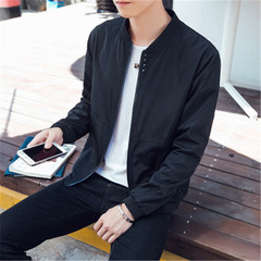 New men's fashion casual jacket casual men's coat coat black m