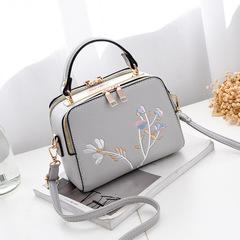 New fashion ladies handbag fresh versatile Messenger bag shoulder bag gray high quality and large capacity handbags