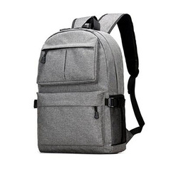New men's fashion casual backpack backpack outdoor backpack light  gray Large capacity and High quality