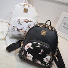 New ladies backpack women's bag backpack women's casual bag black onesize