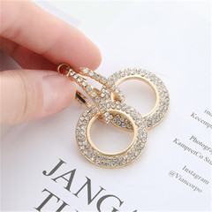 New ladies earrings ring ladies new fashion earrings shiny earrings golden A pair