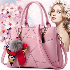 New ladies bag female fashion embroidered handbags slung shoulder women handbag pink high quality and large capacity handbags