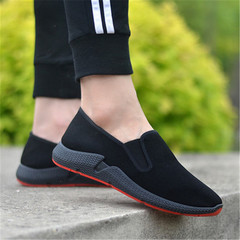 New men's single shoes breathable soft bottom casual shoes black 39