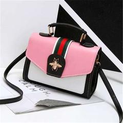 New ladies fashion wild Messenger bag fresh shoulder bag  women handbags pink onesize