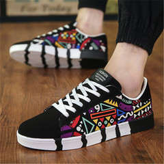 Men Casual Shoes Fashion Breathable Shoes Flat Shoes black 41