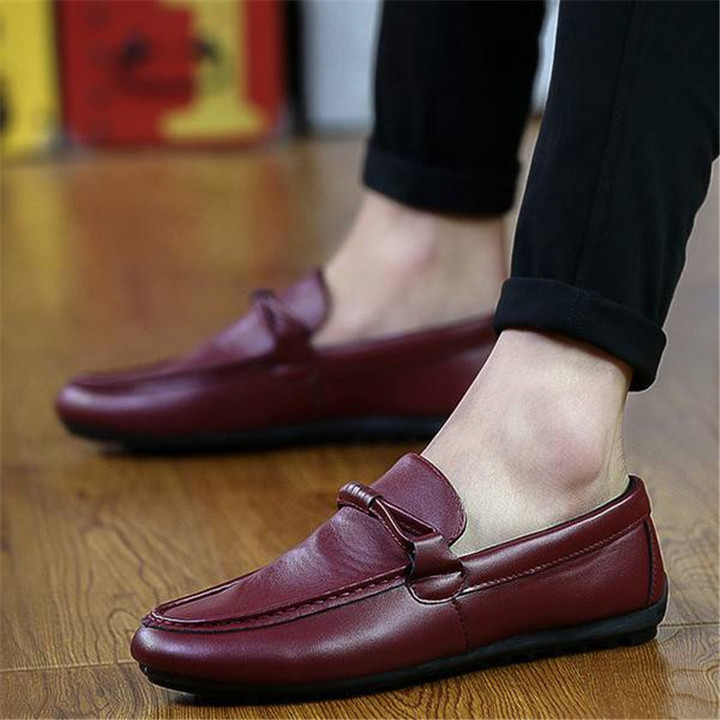 men's shoes comfortable casual men's shoes dark red 40 Rubber