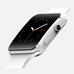 New  Bluetooth Smartwatches X6 sport watch iPhone Android Phone With Camera FM Support SIM Card white onesize