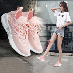 New ladies fashion casual sports shoes women's casual shoes running shoes women's shoes pink 36