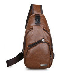New men's bag casual men's bag diagonal bag shoulder bag backpack light brown onesize