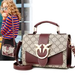 New women's versatile handbag simple shoulder bag Messenger bag dark brown onesize