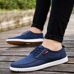 New men's casual shoes canvas shoes with low-top shoes sneakers blue 39