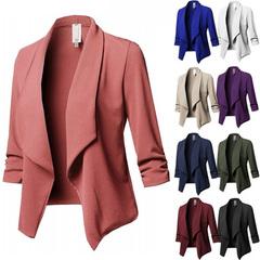 New ladies casual women's jacket women's slim suit jacket office women's jacket clothing pink s