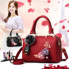 New women bag handbag bag female fashion shoulder bag stereo flower ladies handbag red high quality and large capacity