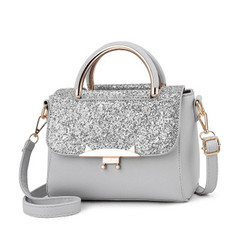New ladies bag women casual fashion handbags slung shoulder bag  handbags Silvery&gray high quality and large capacity handbags