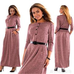 New ladies fashion elegant pure color long sleeve high waist women's long skirt dress 5xl pink
