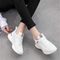 New spring women's network sneakers web celebrity with a casual running shoes white 36