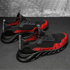 New men's casual sports breathable versatile sport lace-up comfortable flats shoes red 39