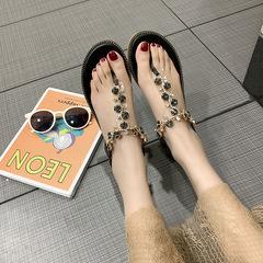Women's flip-toe sandals women's flip-toe sandals shoes black 36
