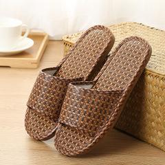 Men and women home linen slippers wooden floor mats Home Furnishing  indoor slippers  shoes brown 36-37
