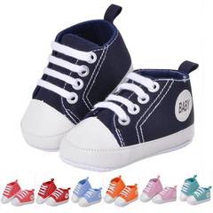 New kids Children Boy&Girl Sports Shoes Sneakers Baby Infant Soft Bottom First Walkers Navy Blue 0-3 months