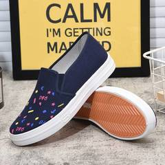 Fashion women canvas shoes running shoes classic canvas shoes dark  blue 40