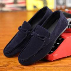 men's shoes a pedal casual shoes Korean trend  wild tide shoes dark blue 40